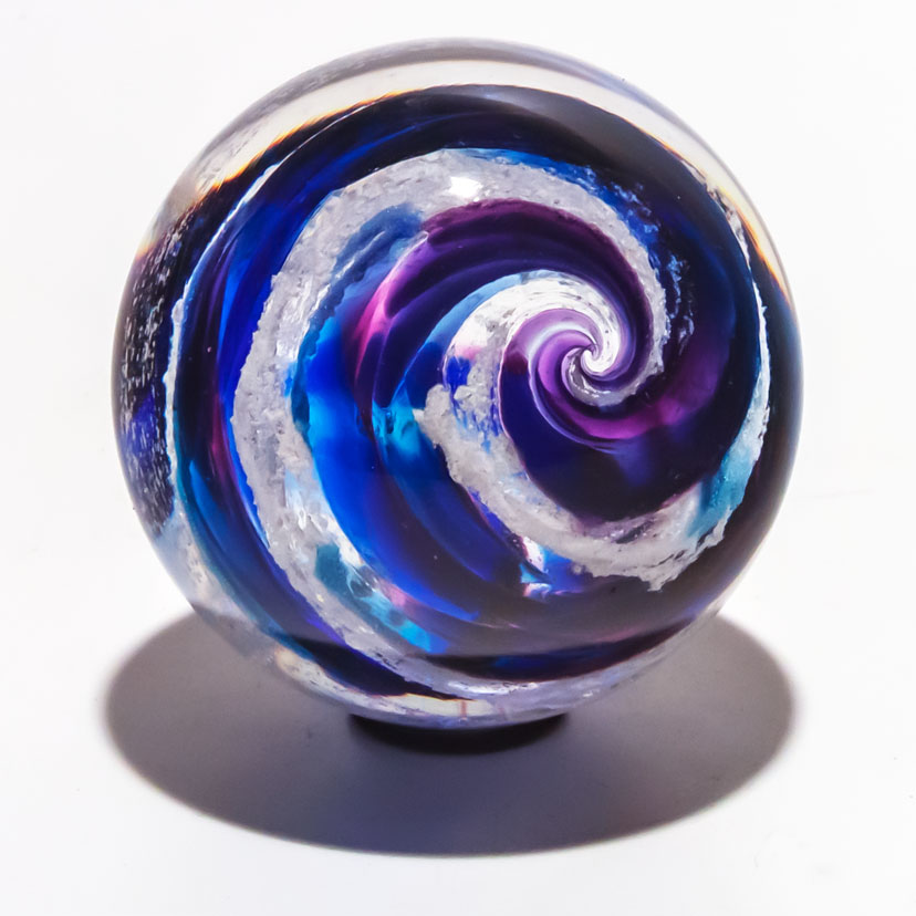 Memorial Crystal - Violet Swirl